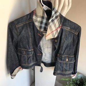 CROPPED Burberry London Jean jacket size 6 -XS/S